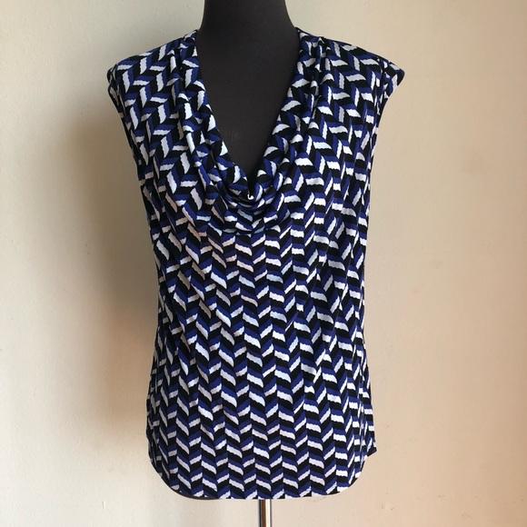Ann Taylor Tops - Ann Taylor sz M geo print blouse